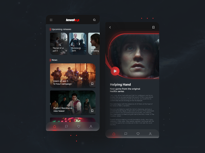 Redesign Levelup App 📲 feed movie app concept app redesign ui design ui ux design dark app app game application apple interface clean design minimal ui
