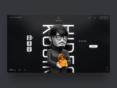 Hideo Kojima - Death Stranding Toy 😎 product shop store games hideo kojima death stranding website webdesign interface landing web clean design minimal ux ui