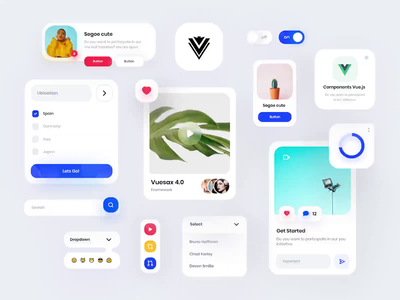 Vuesax 4.0 Framework Vue.js Components 🚀 product design ux design ui design app vuesax vue vue.js orizon interface design system admin components open source github animation