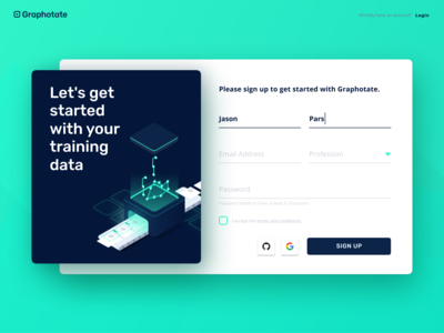 Graphotate – The Sign-up Form
