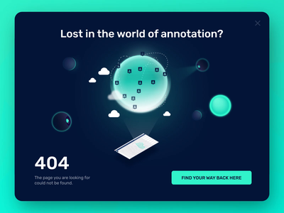 404 page – Graphotate drone planets scan sci-fi 404 ui ux web website landing page annotation image machine vision neural networks ai artificial intelligence machine learning