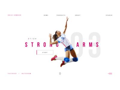 Web Sport Girl Volley