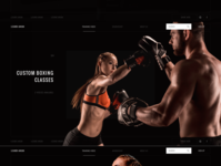 Website proposal dedicated to personalized training.