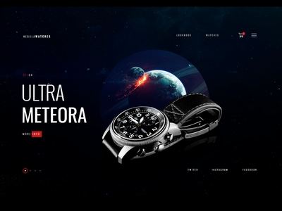 watches concept website nebula interactionanimation motion flow animation nebula planets watches interactive interactive media interaction design branding typography illustration web colorfull interface ui ux webdesign