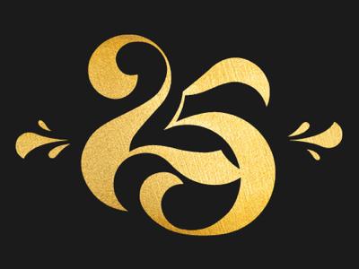 25 handlettering brushscript typography gold procreate ipadlettering numbers caligraphy lettering