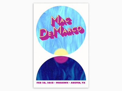 Mac DeMarco art graphicdesign gigposter poster atx austin mohawkaustin macdemarco gigposter2018