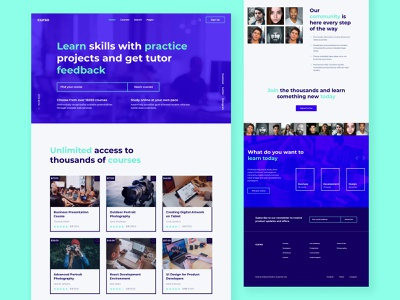 Curso learning courses lms ui ux template design html5