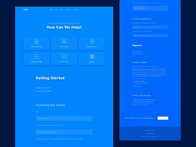 Lite jekyll website flat typography web ux ui template html5 design