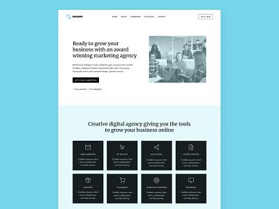Cocoon homepage marketing agency web ux ui design