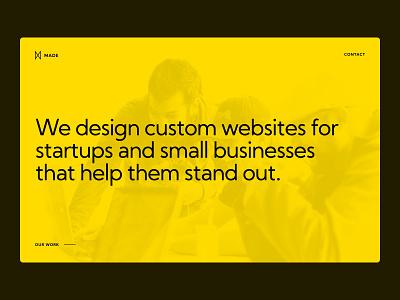 Made Agency Home Hero agency website ui ux web design