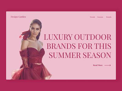 Hero website ui ux design