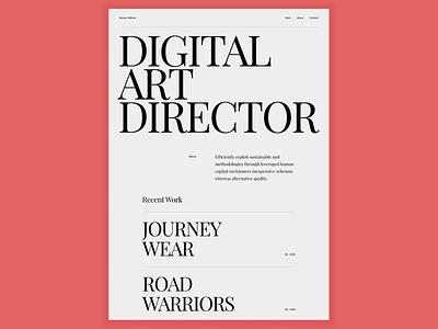 Portfolio Typography Website typogaphy portfolio hero website web ui ux design