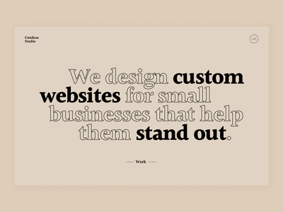 Digital Studio Home Header studio agency website web ux ui design