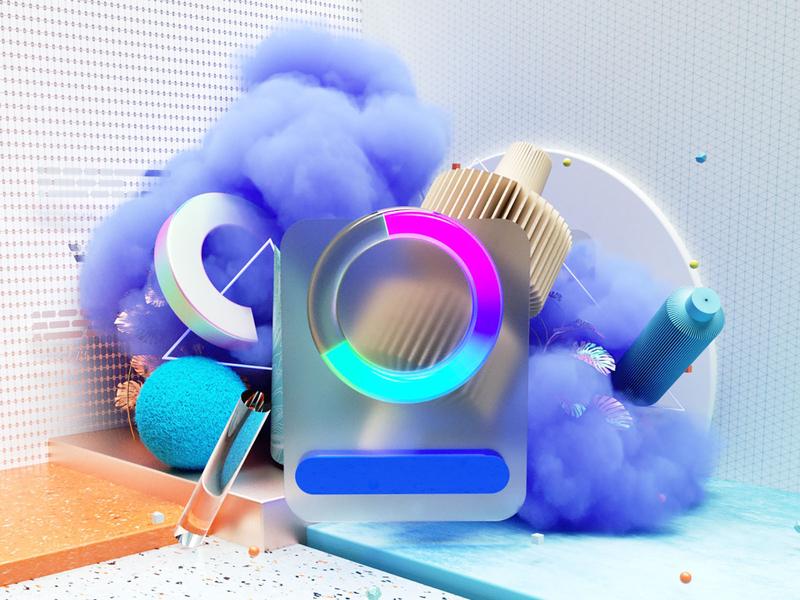 Loading... octanerender ui design 3d