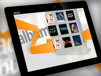 A concept 3D Music player for Android music 3d player android tablet