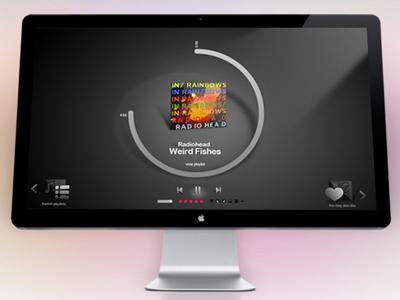 Gaana Fullscreen Player music ui player flash windows interface
