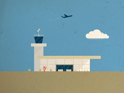 The Airport geometric illustration