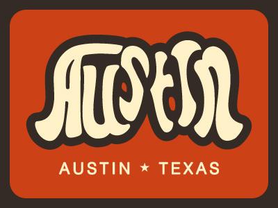 Austin Texas Perceptual Shift typography lettering text font words illusion flip
