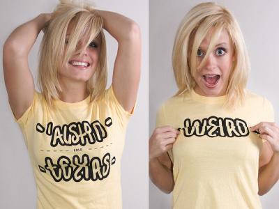 Austin Texas Weird Fold Shirt typography lettering text font words