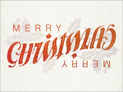 Christmas Ambigram ambigram typography lettering text font words illusion flip turn rotate