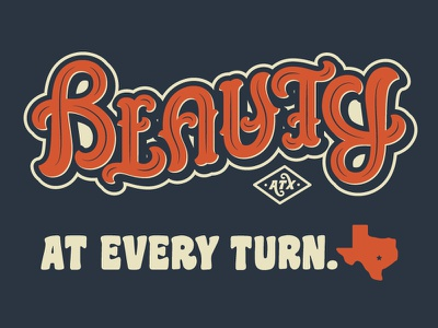 Beauty Ambigram texas austin writing quote font type script words letters