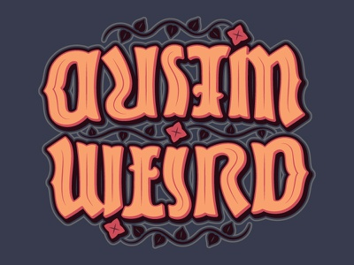 Austin Weird Ambigram optical illusion typography script type letters words
