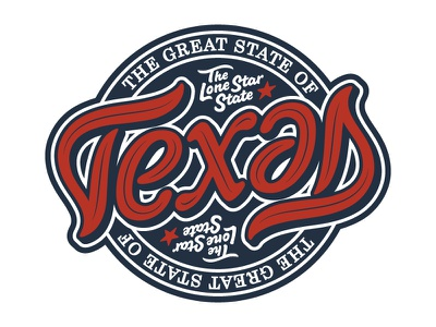 Texas Ambigram  optical illusion typography script type letters words