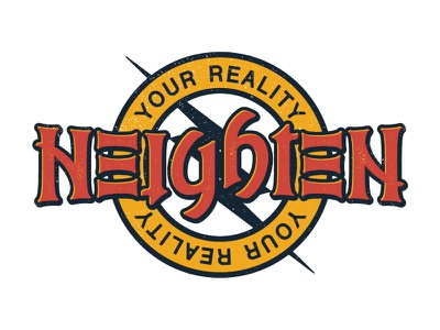 Heighten Your Reality Ambigram optical illusion typography script type letters words