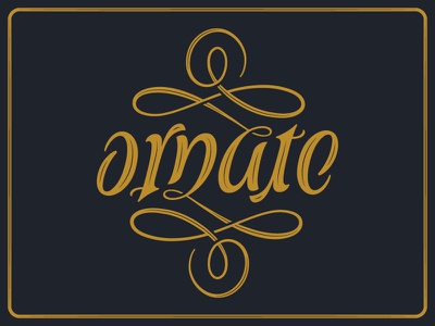 Ornate Ambigram optical illusion typography script type letters words
