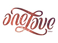 One Love Ambigram