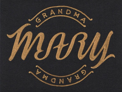 Mary Ambigram illusion rotate turn flip letters script typography writing words lettering