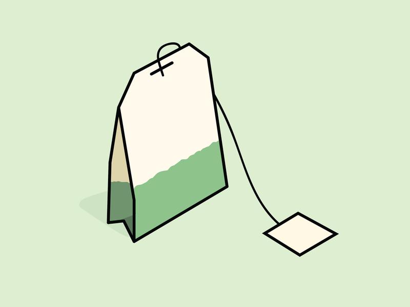 Green Tea tea bag green tea green tea graphic design design illo illustrator illustration drawing