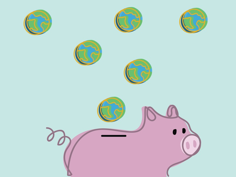 Save the planet, invest in the Earth. save the planet save the earth earth day planet piggy bank save earth illo graphic design design illustrator illustration drawing