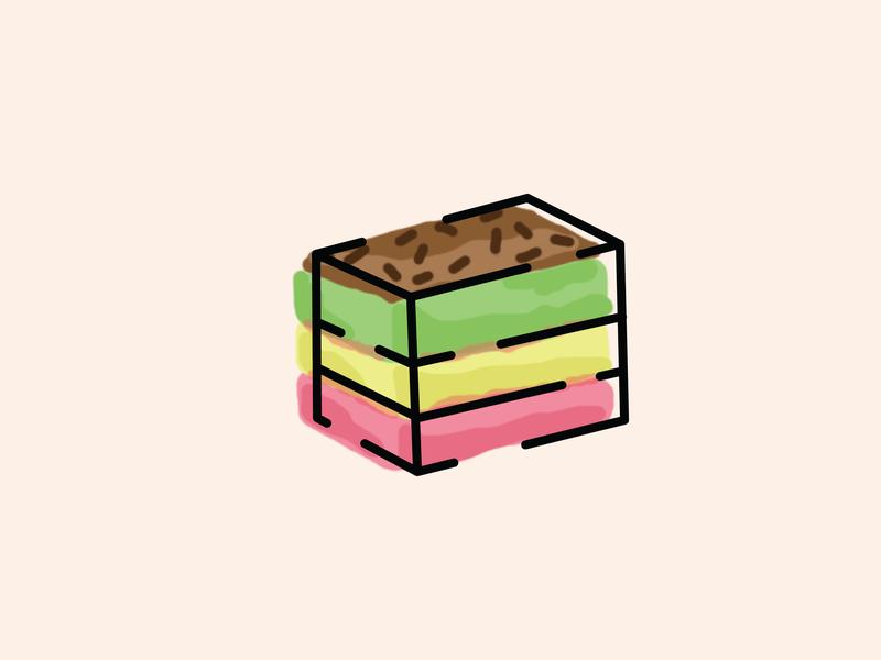 Rainbow Cookie photoshop food illustration food cookie rainbow rainbow cookie graphic design illo design illustrator illustration drawing