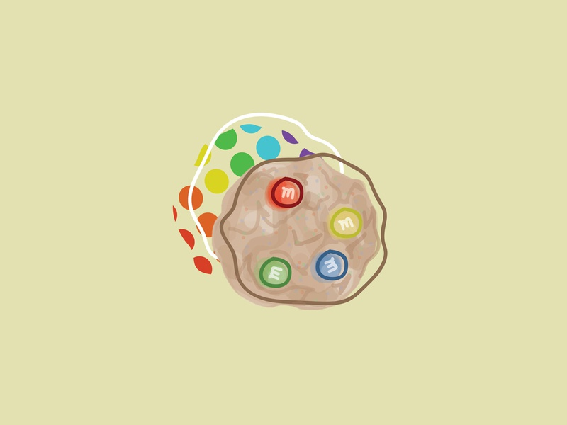 Yum&m digital painting photoshop rainbow yum mms mm cookie food illustration food graphic design design illo illustrator illustration drawing