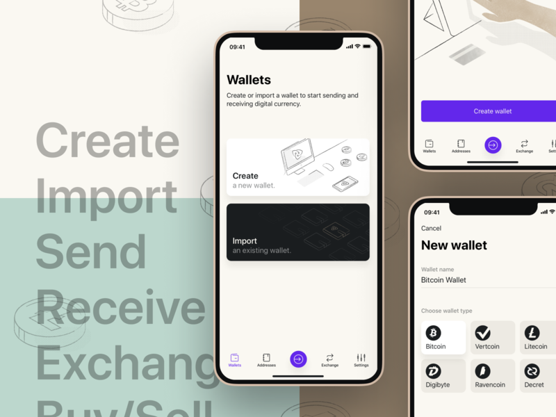 Vertbase app mobile product crypto wallet cryptocurrency ios app finances bitcoin app