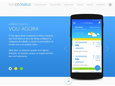 Vou de ônibus Website voudeonibus material app website