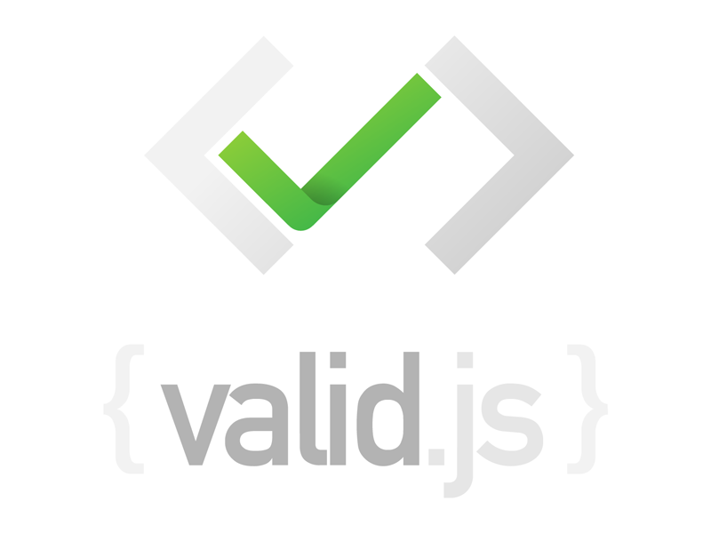 Valid.js coding develop javascript html code dev logo