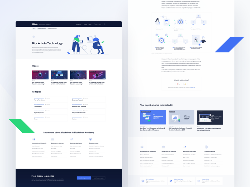 Lisk Academy  #3 cryptocurrency webdesign modern ui ux ui wiki crypto blockchain