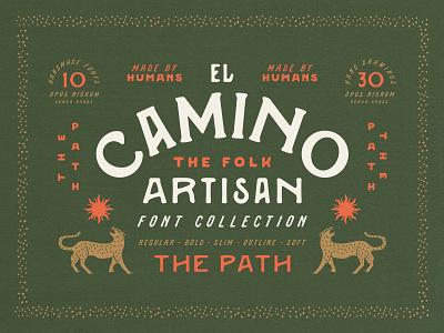 CAMINO Font bohemian design texas mexico southwest type tipography vintage retro old handmade font