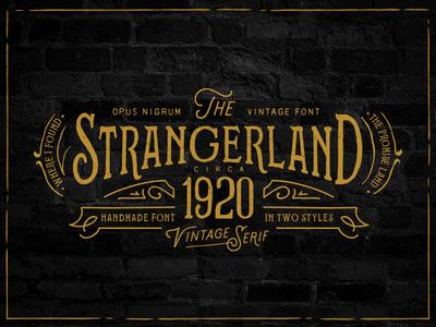 Strangerland Font By Opus Nigrum