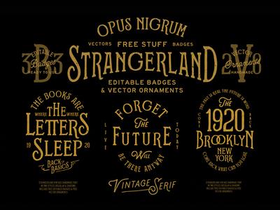 Strangerland Font By Opus Nigrum2