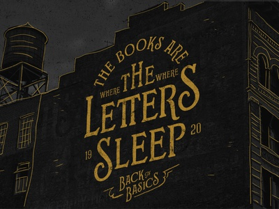 The Books are where the Letters Sleep