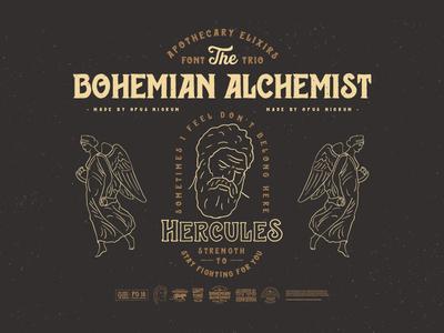 Bohemian Alchemist Font & Badges