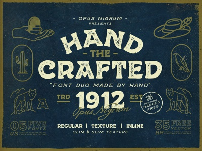 Hand Crafted Font mexican cowboy type traditional typography label design logo denim hipster vintage retro old handmade font