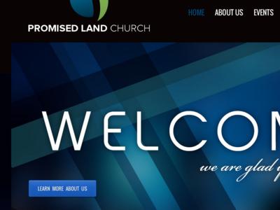 Promise Land Church Homepage web design uiux wordpress