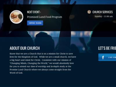 Promise Land Church web design uiux wordpress