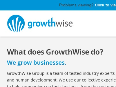 GrowthWise Welcome Email email campaign design graphics photoshop