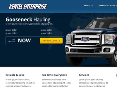 Kentel Enterprise Site WIP uiux web design wordpress