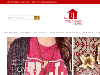 The Party House of NWA ecommerce uiux web design wordpress